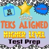 Texas TEKS / STAAR Test Prep - 10 Days of Review for 5th Grade MATH - NO PREP!