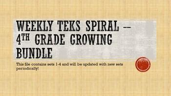 Texas TEKS Spiral Review Bundle