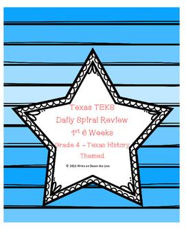 Texas TEKS Weekly Skills Spiral