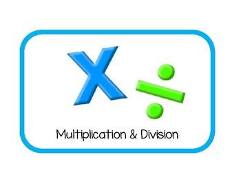Texas TEKS based Large Math Station Labels