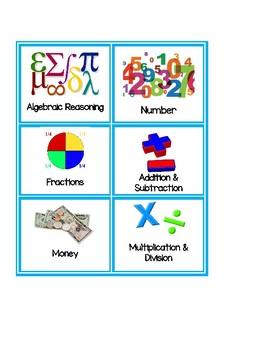 Texas TEKS based Math Station Tub Labels