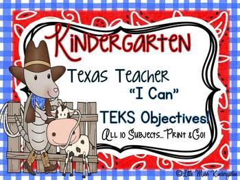 "Texas Teacher TEKS Objective ""I Can"" Statement Printables!"