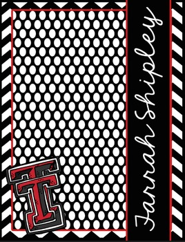 Texas Tech(TM) Lesson Planner EDITABLE and Ultimate Classroom Binder Combo