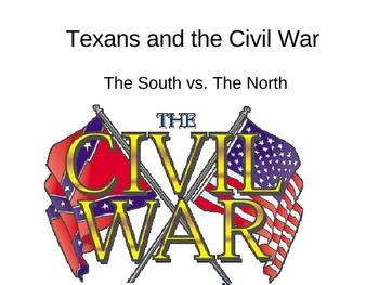 Texas-Texans and the Civil War- 4th Grade TEKS