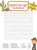 Texas Themed Word Search - Texas State Symbols