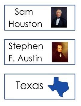 Texas Themed Word Wall Words