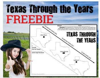 Texas Through the Years FREEBIE