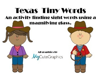 Texas Tiny Word Search