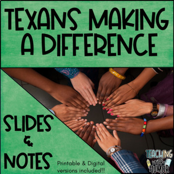 Texas Today POWERPOINT & NOTES