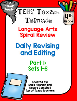 4th Grade Texas Tornado Language Spiral Review Part 1: Daily Revise & Edit TEKS