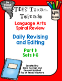 4th Grade Texas Tornado Daily Revise and Edit TEKS Spiral Review: Part 1
