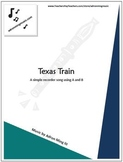 """Texas Train"" Recorder Music with Fun Background Track"