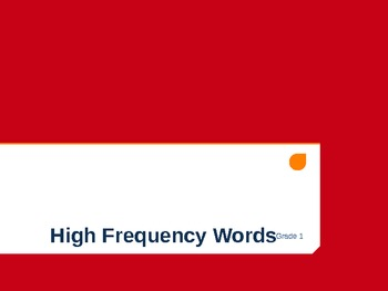 Texas Treasure 1st Grade HFW High-Frequency Words with Aud