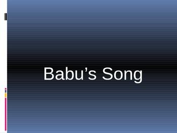 Texas Treasures Babu's Song Vocabulary