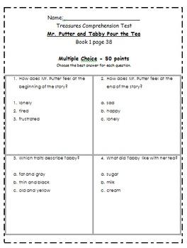 Texas Treasures Comprehension Tests for Second Grade