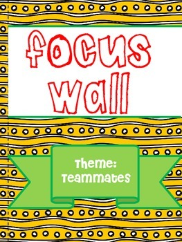 Texas Treasures Grade 1 Focus Walls Unit 4 Weeks 1-5