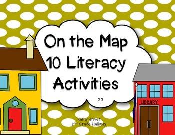 Texas Treasures Grade 1  On the Map 2.3 {10 Literacy Activities}