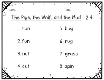 Texas Treasures Grade 1 The Pigs,the Wolf,and the Mud 2.4 { Literacy Activities}