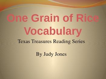 Texas Treasures: One Grain of Rice Vocabulary