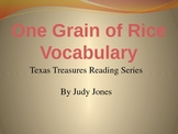 Texas Treasures: One Grain of Rice Vocabulary