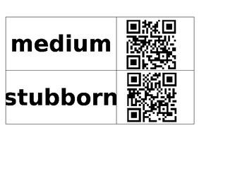 Texas Treasures Unit 3 Vocabulary QR Code Match