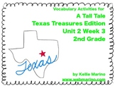 Texas Treasures Vocabulary Activities for A Tall Tale