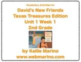 Texas Treasures Vocabulary Activities for David's New Friends