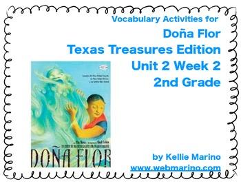 Texas Treasures Vocabulary Activities for Doña Flor