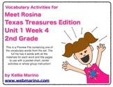 Texas Treasures Vocabulary Activities for Meet Rosina