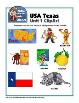 Texas Unit 1 Clip Art