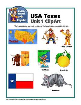 Texas Unit 1 Clip Art