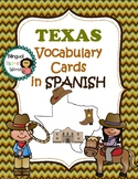 Texas Vocabulary Cards in SPANISH