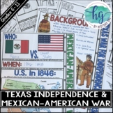Texas War for Independence and the Mexican American War Do