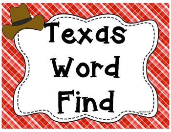 Texas Word Find