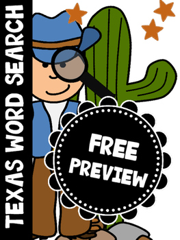 Texas Word Search Freebie
