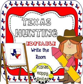 Texas Write the Room (EDITABLE)  ~ Texas Hunting