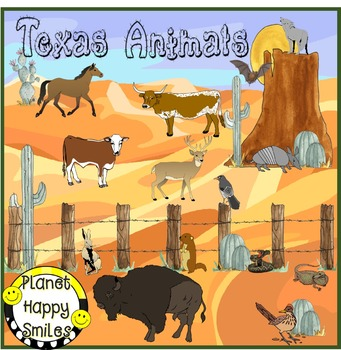 Texas Writing Activity ~ Texas Animals, Planet Happy Smiles