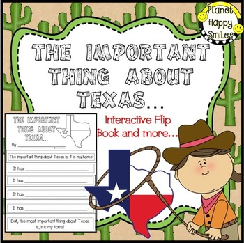 Texas ~ Writing Activity: The Important Thing about Texas