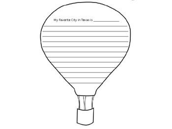 Texas Writing Dr. Seuss Hot Air Balloon