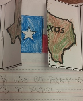 Texas and Texas Flag Interactive Journal Activity