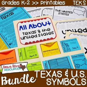 Texas and U.S. Symbols, Anthems, Mottoes, & Pledges Bundle | Lapbook | Puzzles