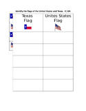 Texas and United States Flag sort with Texas TEK K.10A