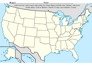 Texas and United States MAP Worksheets