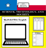 Texas history (7th Grade) Bundle Mini Lesson & Illustrated/Doodle Notes