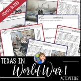 Texas in World War I for Distance Learning Packet or Google Drive