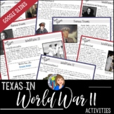 Texas in World War II for Distance Learning Packet or Goog