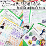Texas in the Civil War DOODLE NOTES and Readings