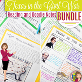 Texas in the Civil War Reading and Doodle Notes Bundle