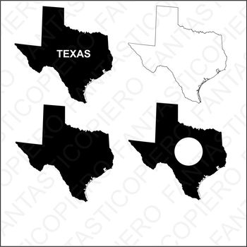 Texas map SVG files for Silhouette Cameo and Cricut.