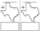 Texas map blank x2